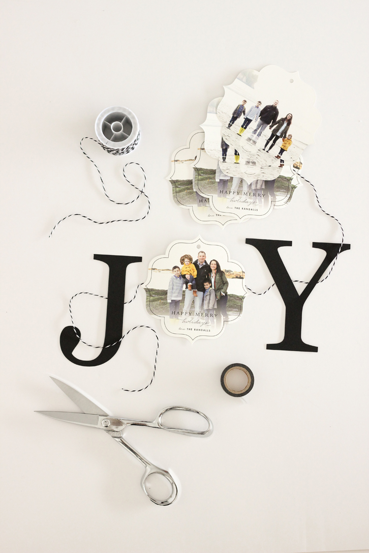 """JOY"" Bunting Christmas Card DIY // Delia Creates"