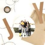 JOY Bunting Christmas Card