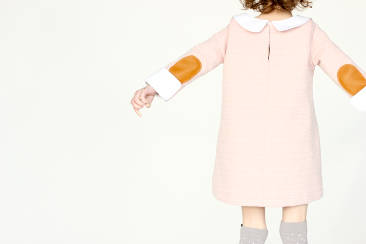 Pink Christmas Shift Dress // Delia Creates