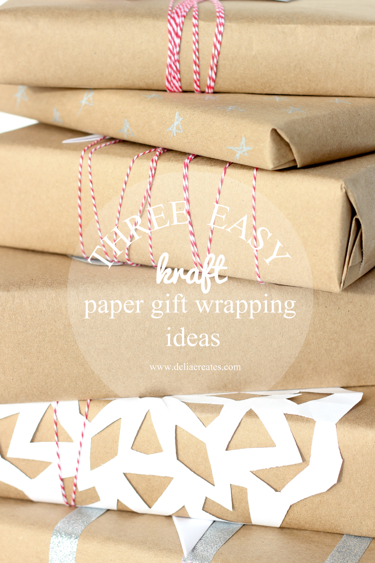Well-liked Three Easy Kraft Paper Gift Wrapping Ideas XG55