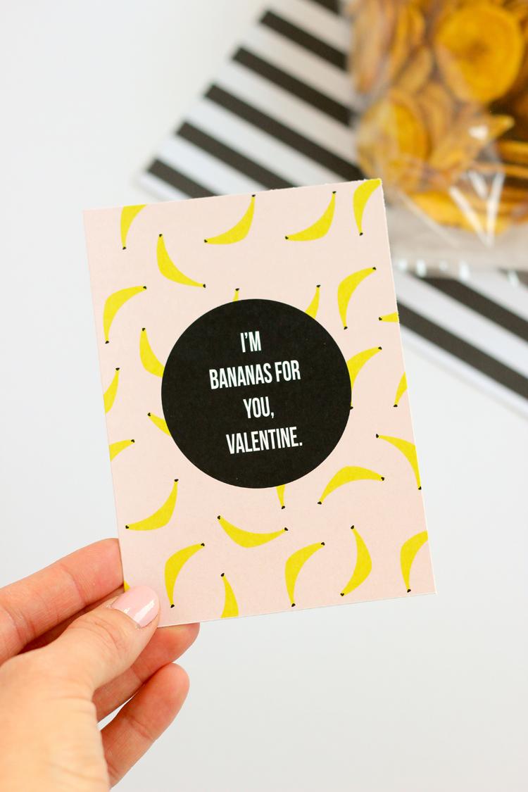 Banana Valentine - FREE PRINTABLE // www.deliacreates.com