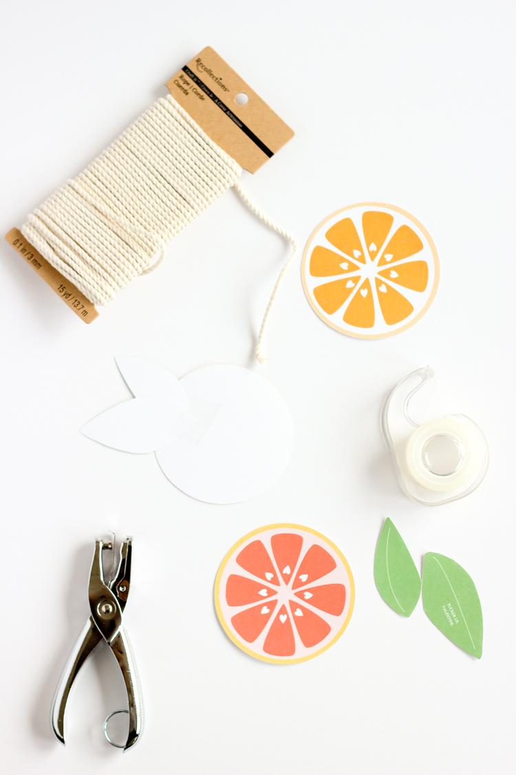 Citrus Valentines + Free Printables // www.deliacreates.com