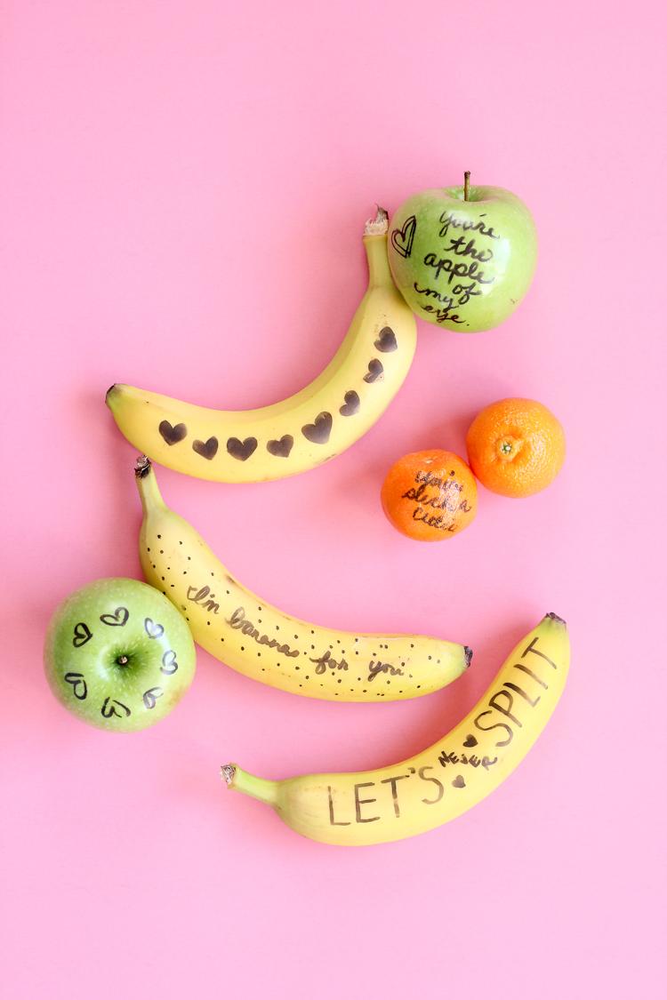 Fruit Doodle Valentines // www.deliacreates.com