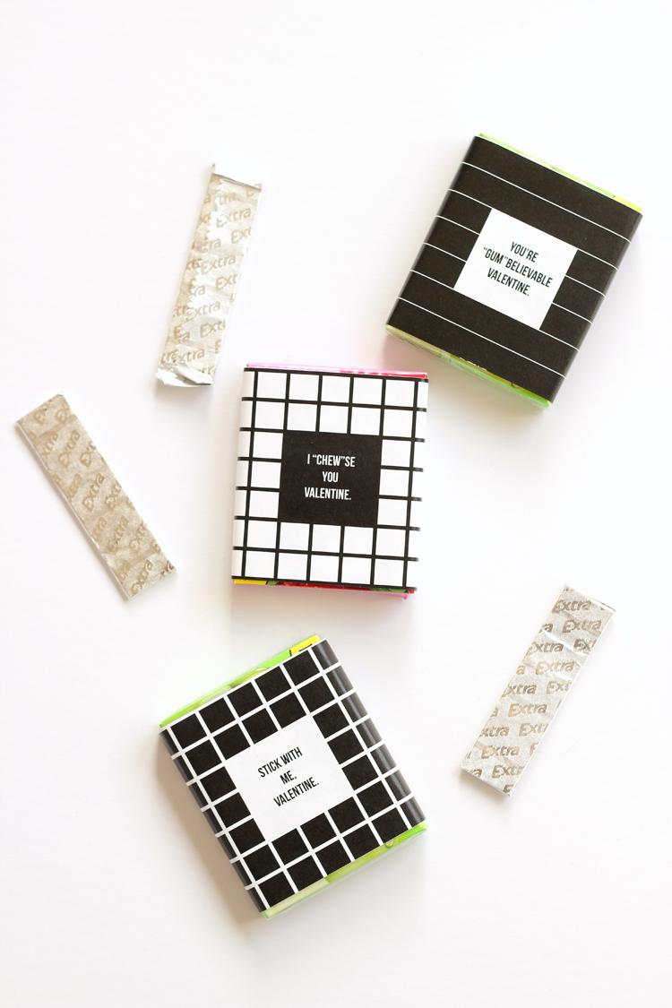 Gum Valentines + FREE PRINTABLE // www.deliacreates.com