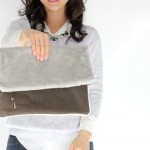 Fur + Leather Clutch in Mollie Makes, issue no. 62