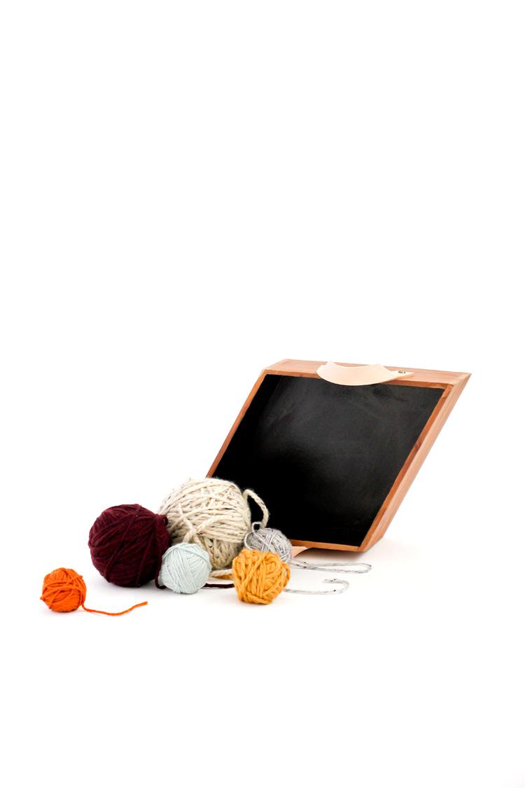 Wood + Leather Basket Tutorial // www.deliacreates.com