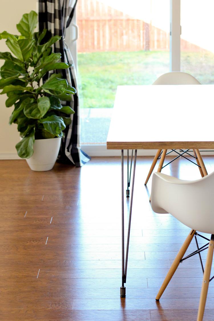 Incredible Plywood Hair Pin Leg Dining Table Camellatalisay Diy Chair Ideas Camellatalisaycom