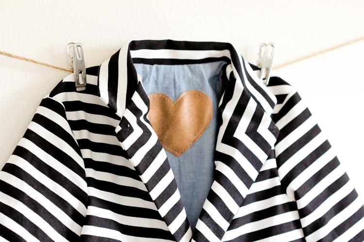 Bowie Inspired Blazer // www.deliacreates.com