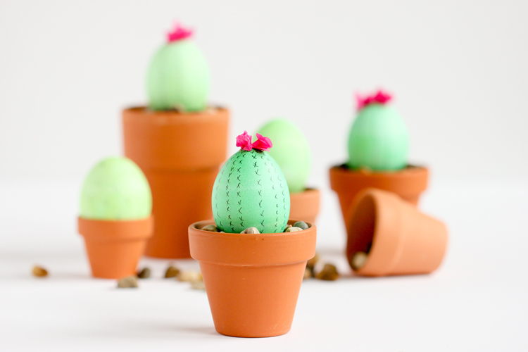 Cactus Easter Eggs - Delia Creates