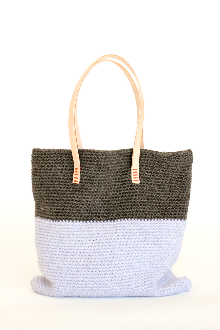 Crochet Leather Basic Tote Free Pattern