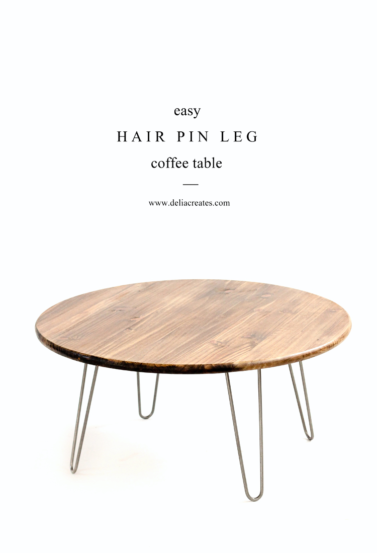 Hairpin leg coffee table tutorial Legs for a coffee table