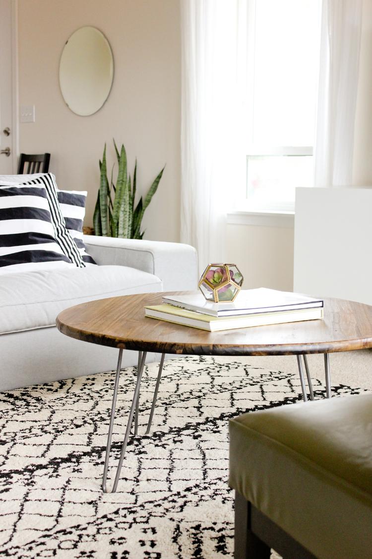 Hairpin Leg Coffee Table Tutorial Www Deliacreates