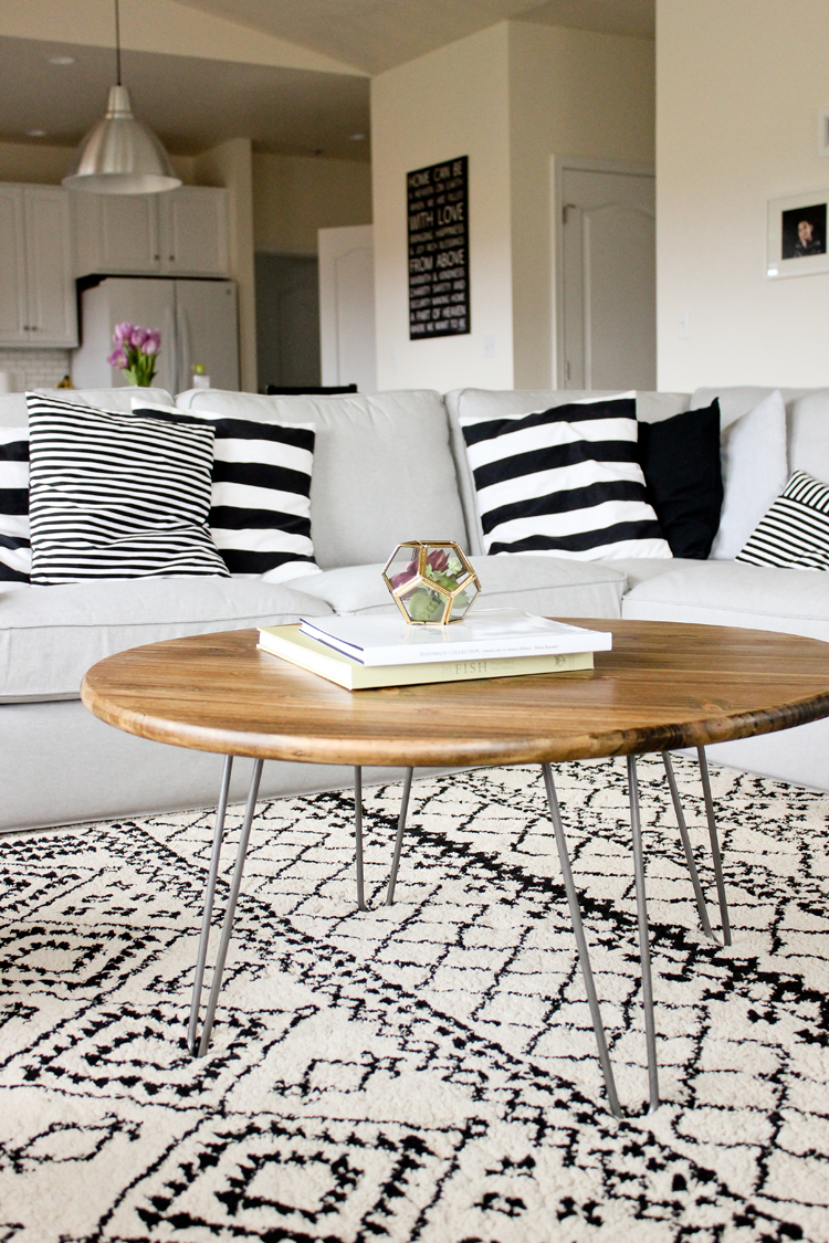 Hairpin Leg Coffee Table Tutorial Www Deliacreates