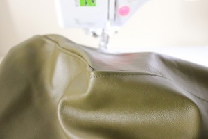 Sewing a leather chair cover // www.deliacreates.com