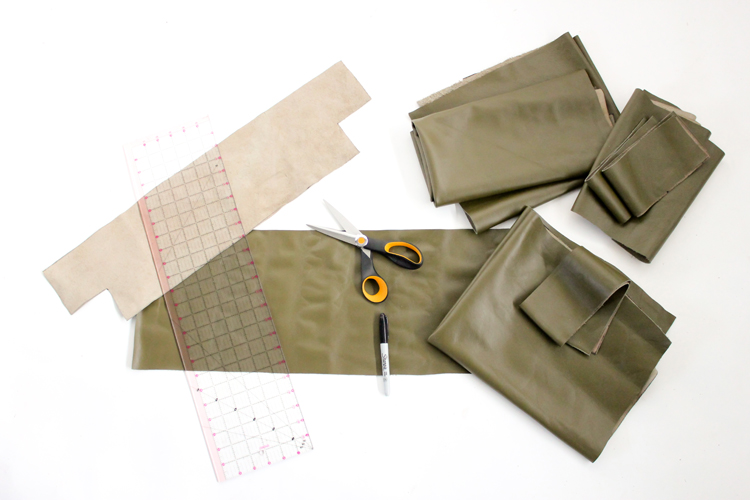 How to Sew Leather Upholstery Slipcovers with your home sewing machine // www.deliacreates.com