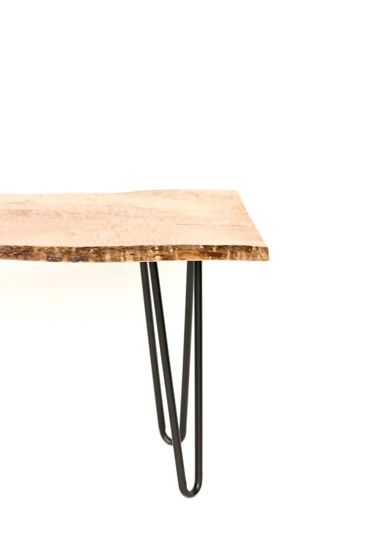 DIY Live Edge Wood Bench Tutorial // www.deliacreates.com