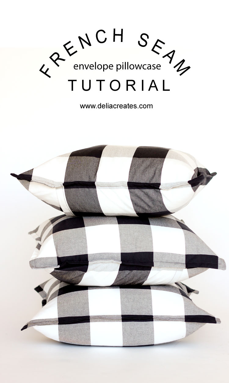 French Seam Envelope Pillowcase Tutorial // www.deliacreates.com