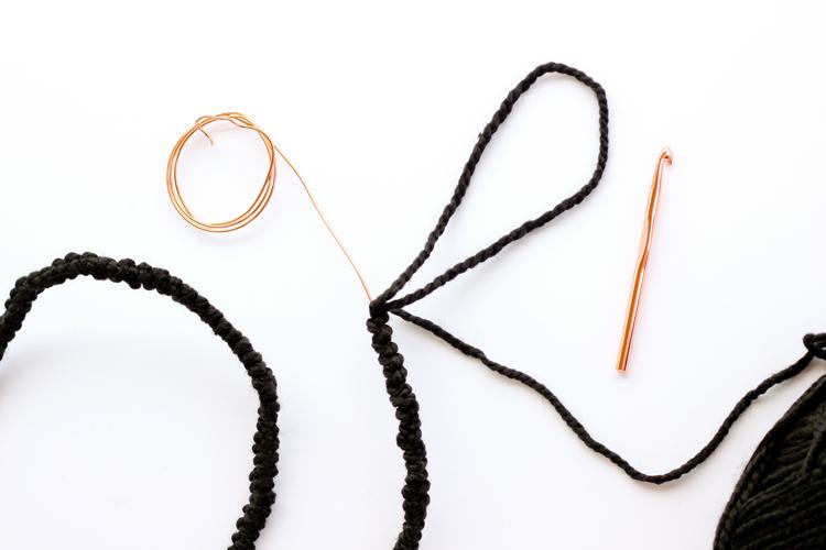 Crocheted Wire Letters // www.deliacreates.com