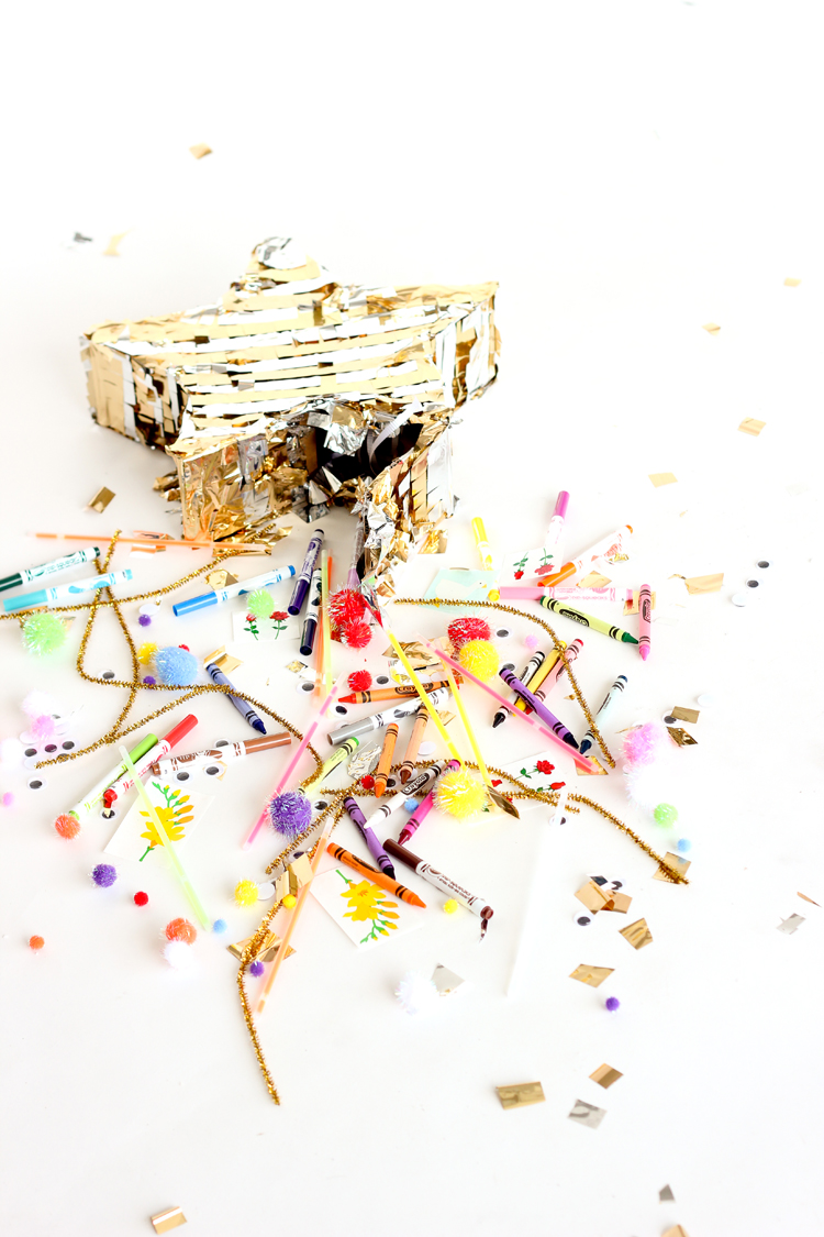 15 Non-Candy Pinata Filling Ideas // www.deliacreates.com