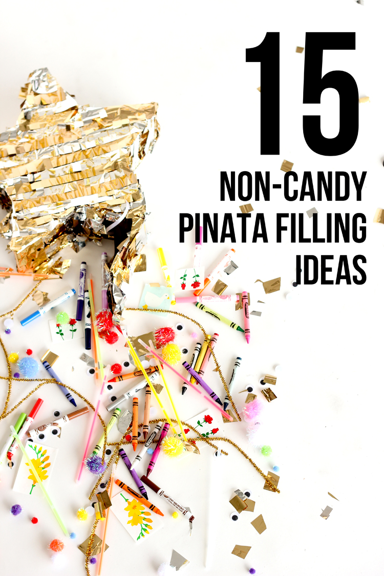 15 Non-Candy Pinata Filling Ideas // www.deliacreates.com