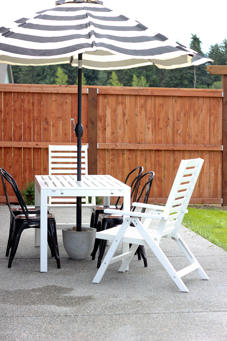 Elegant Easy DIY Patio Umbrella Stand Tutorial for under