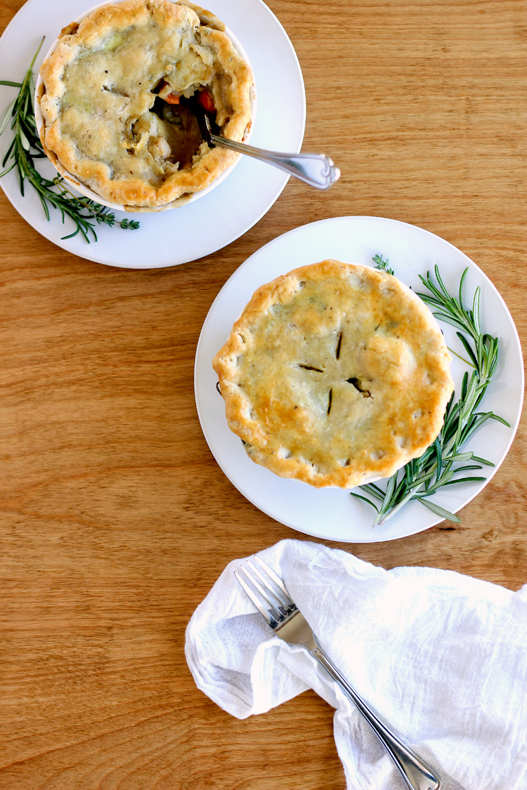 Chicken Pot Pie with Herbed Pie Crust Recipe - Dairy Free! // www.deliacreates.com