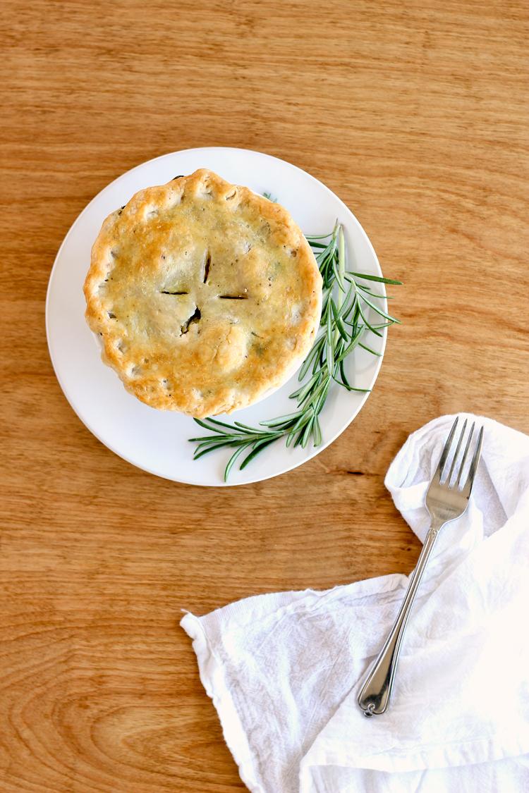 Chicken Pot Pie with Herbed Pie Crust Recipe - Dairy Free! // www.deliacreates.com