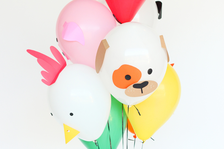 Paper Balloon Farm Animals – Free Cut Files!