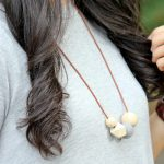 Wood + Felt Bead Diffuser Necklace