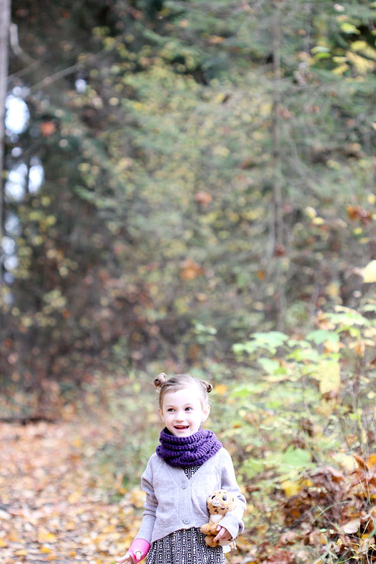 Three + One Toddler Infinity Scarf - FREE PATTERN // www.deliacreates.com