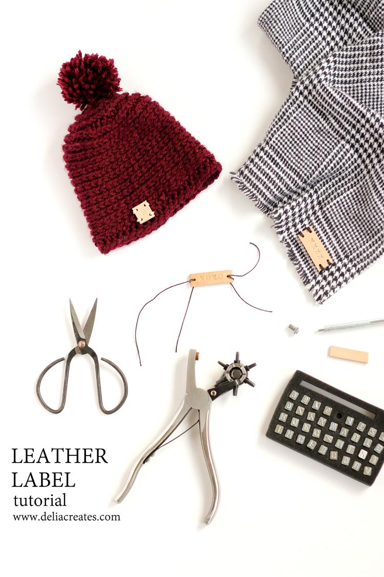 Sewn Leather Labels - TUTORIAL \\ www.deliacreates.com