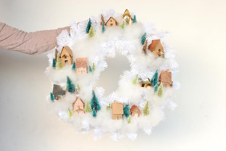 Mini House Wreath Tutorial + Free Cut Files