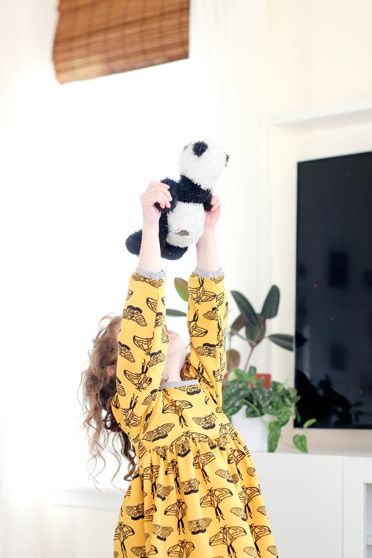 Noni Bee fabric || Snapdragon Dress Pattern || www.deliacreates.com