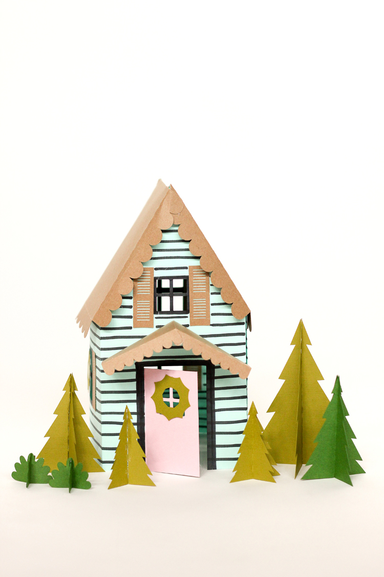 graphic regarding Printable Christmas Village Template identified as Paper Family vacation Homes totally free templates!