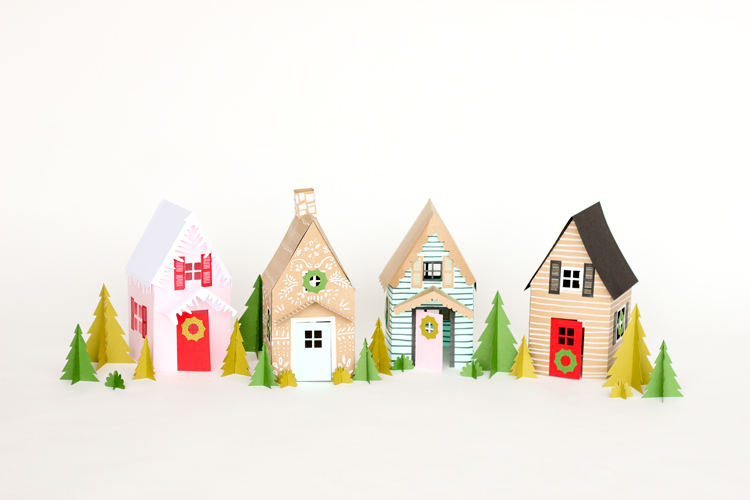 Paper Holiday Houses – free templates!
