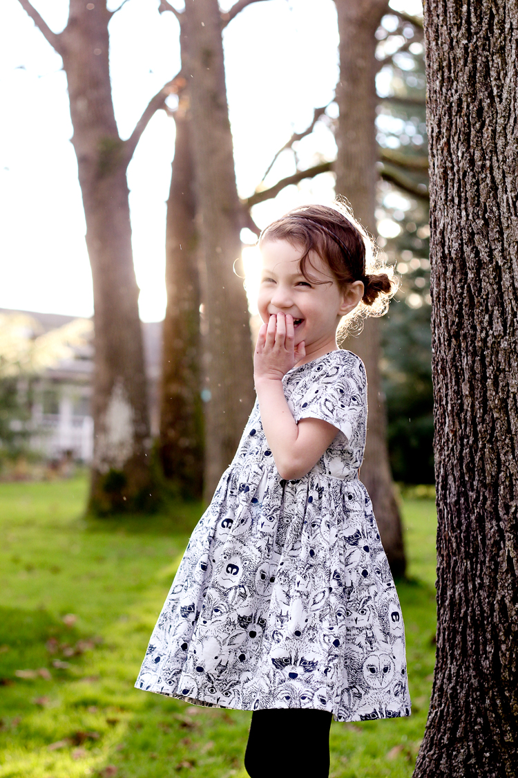 Woodland Animal Ayda Dress // www.deliacreates.com