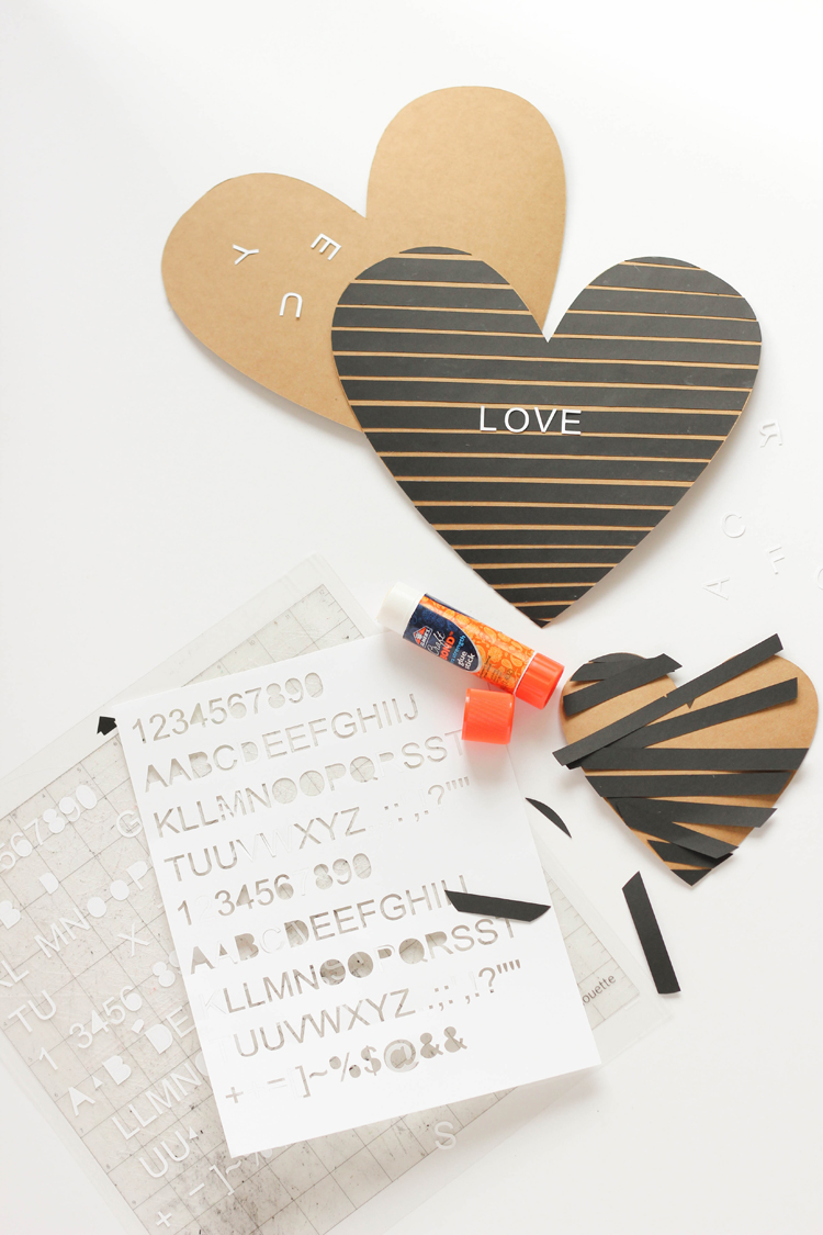 Letter Board Chocolate Box tutorial and free cut files! // www.deliacreates.com