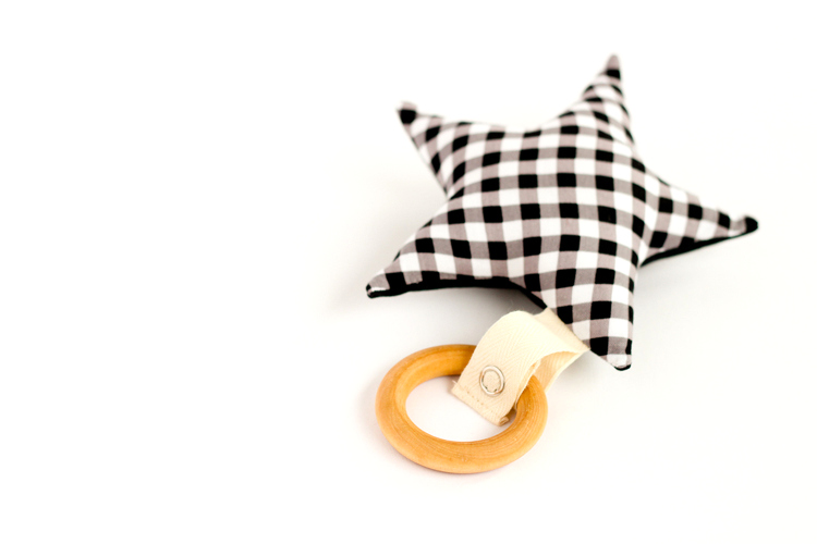 Wooden Ring Baby Teether Toy