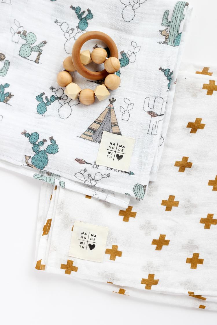 Gauze Swaddle Baby Blanket Diy Tag Tutorial