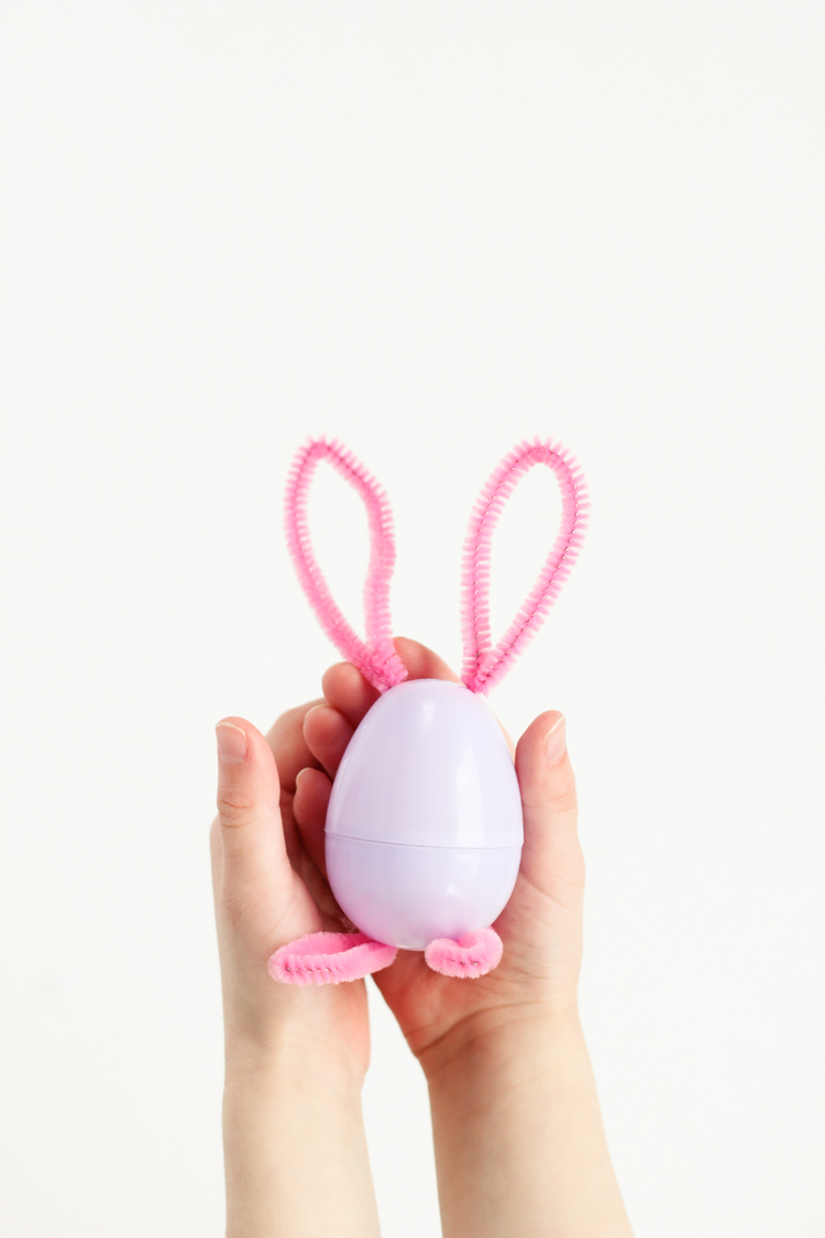 Pipe Cleaner Bunny Easter Eggs