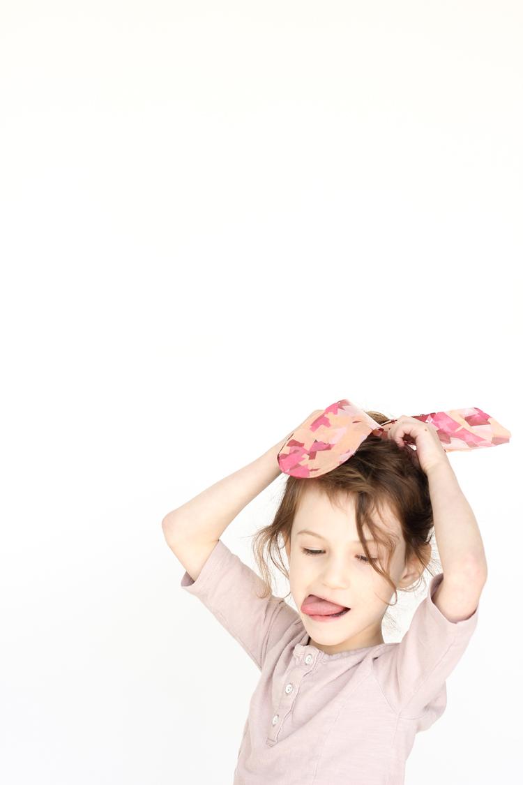 Sun Catcher Bunny Ears // www.deliacreates.com