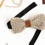Crochet + Leather Bow Tie Tutorial