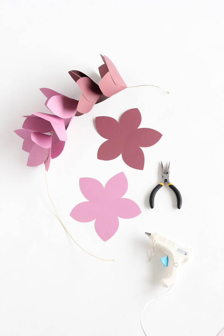 Giant Paper Flowers Free Silhouette Cut Files