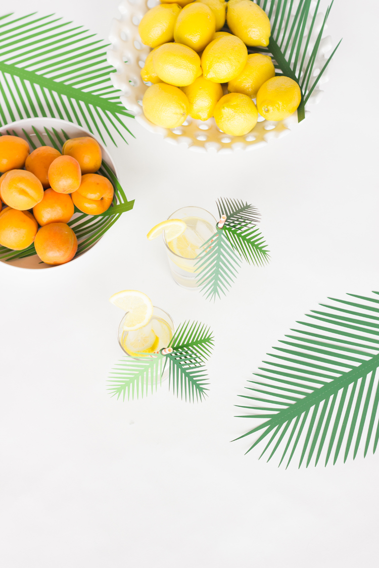 Paper Palm Frond Party Decor Free Cut Files