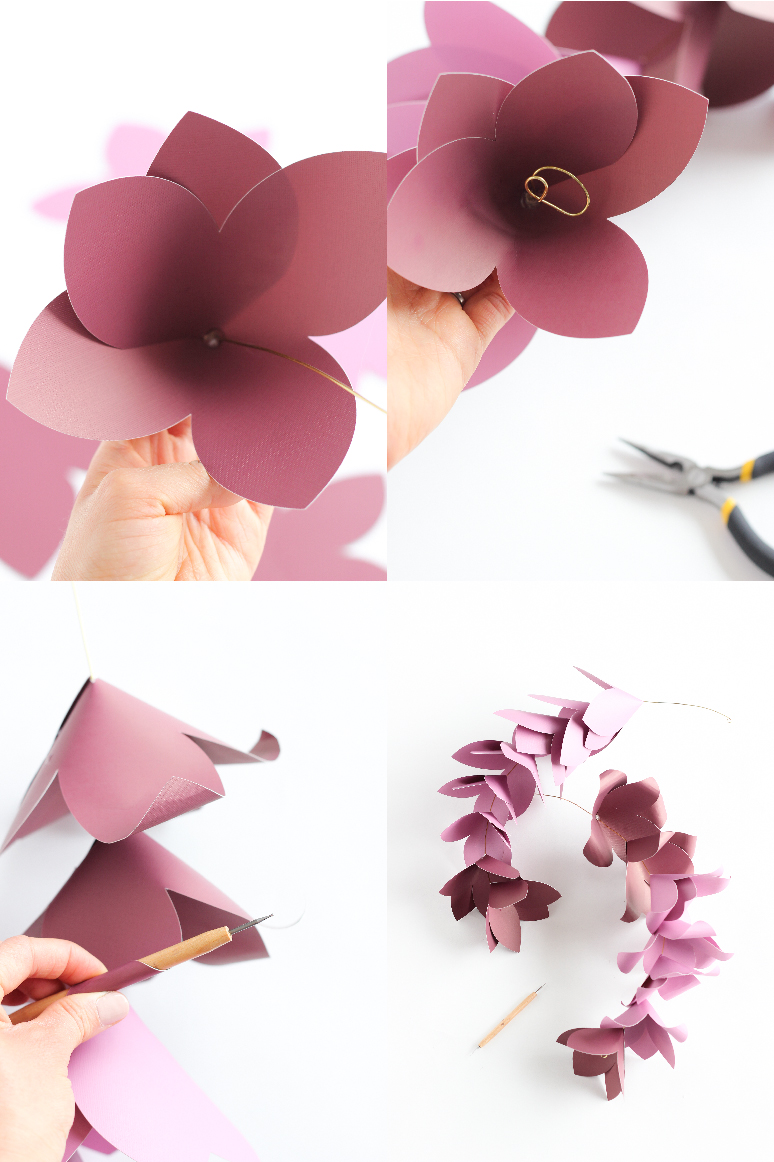 Giant Paper Flowers + Free Silhouette Cut Files!