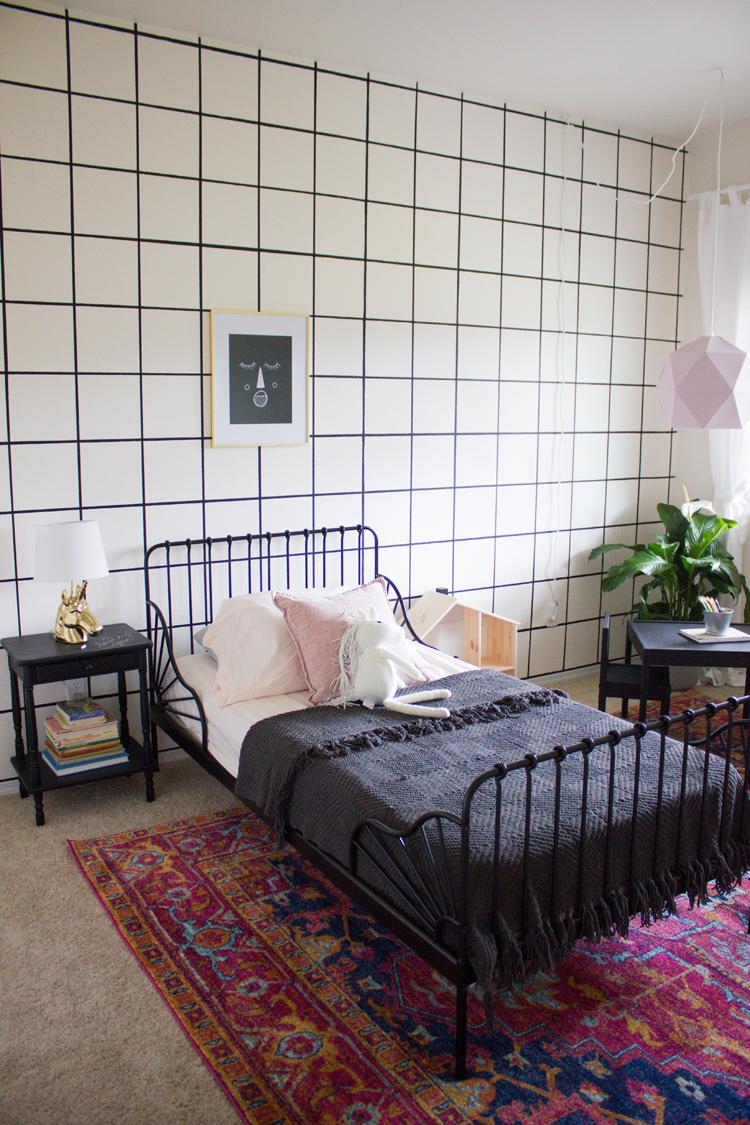 Natalie's Chalkboard Paint Bedroom // www.deliacreates.com