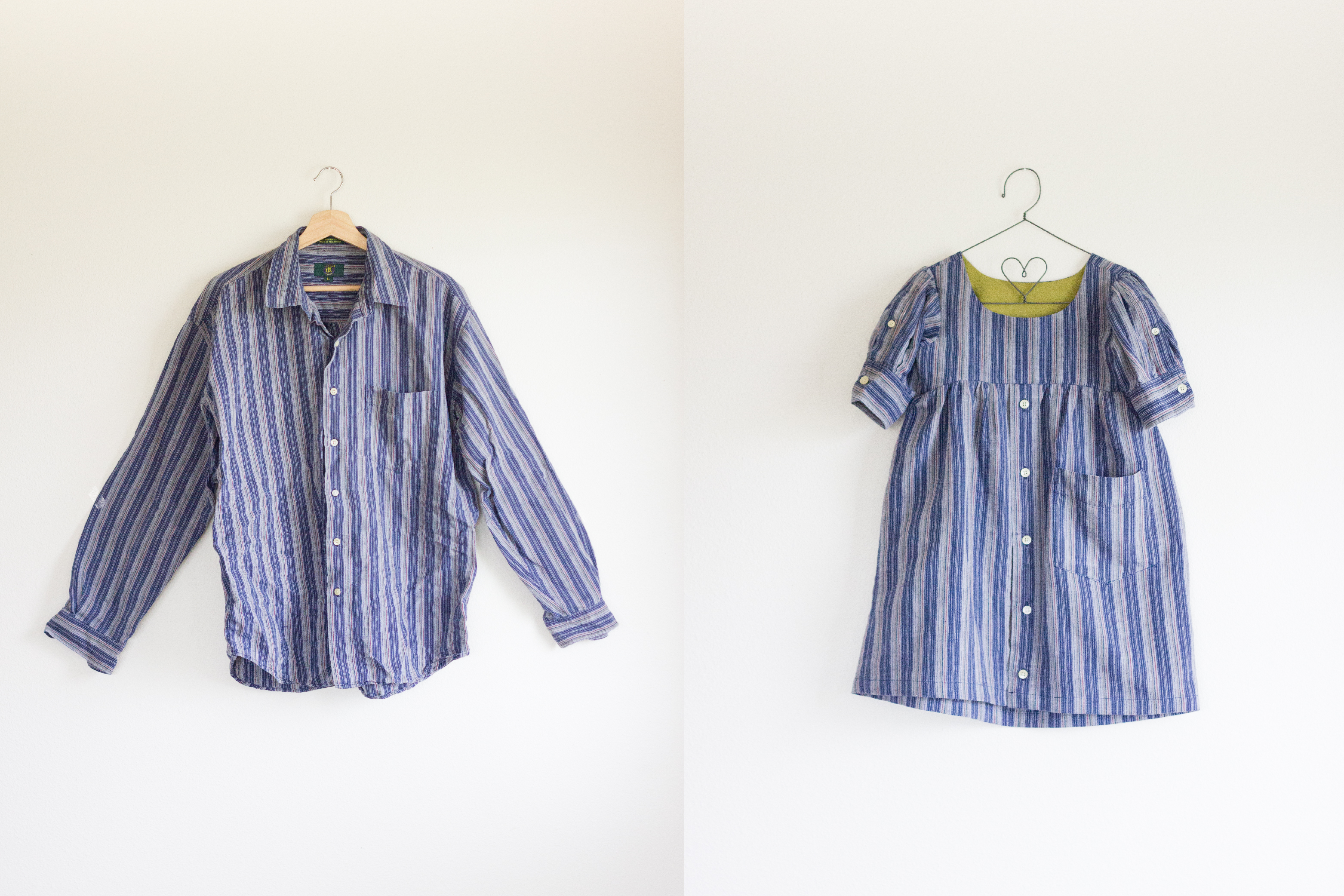 Men's Shirt Dress Refashion // www.deliacreates.com