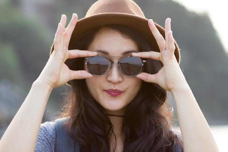 Easy DIY Wrap Choker + David Kind Glasses Clips Review // www.deliacreates.com