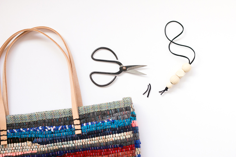 Rug Rag + Leather Bag Tutorial // www.deliacreates.com