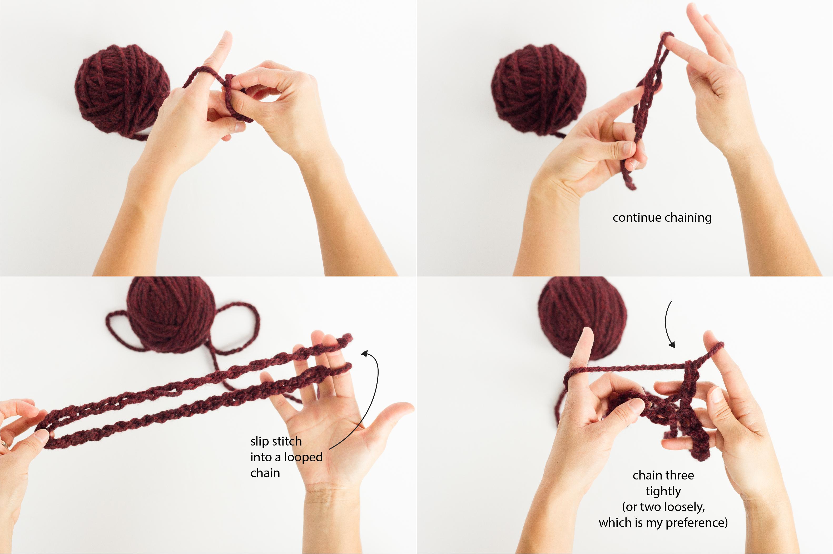 Finger Crocheted Cowl Tutorial + Pattern // www.deliacreates.com